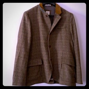 Brown tweed bicycling blazer